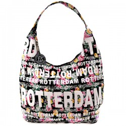 SHOULDER BAG JULIA FLOWERS ROTTERDAM BLACK ROBIN RUTH