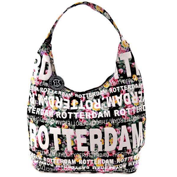 f5c626c3 SHOULDER BAG JULIA FLOWERS ROTTERDAM BLACK ROBIN RUTH - Dutch Gifts