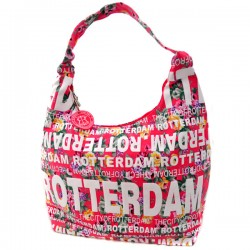 SHOULDER BAG JULIA FLOWERS ROTTERDAM PINK ROBIN RUTH