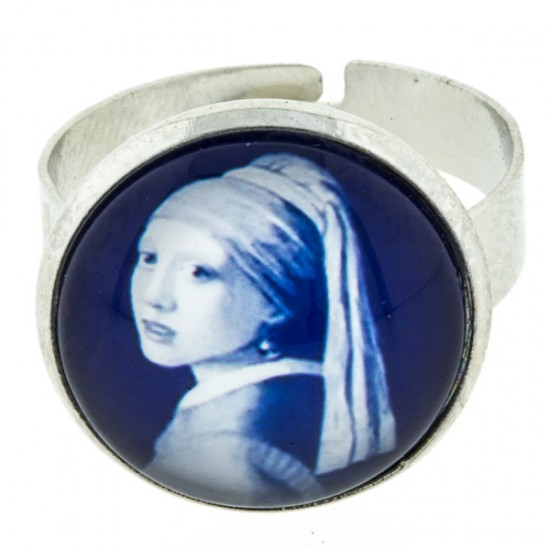 Ring delft blue stone gil with the pearl earring vermeer large