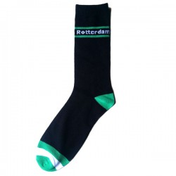 ROTTERDAM SOCKS GREEN WHITE FLAG