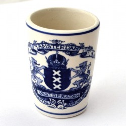 GIN CUP SHOOTER AMSTERDAM CITY LOGO DELFT BLUE