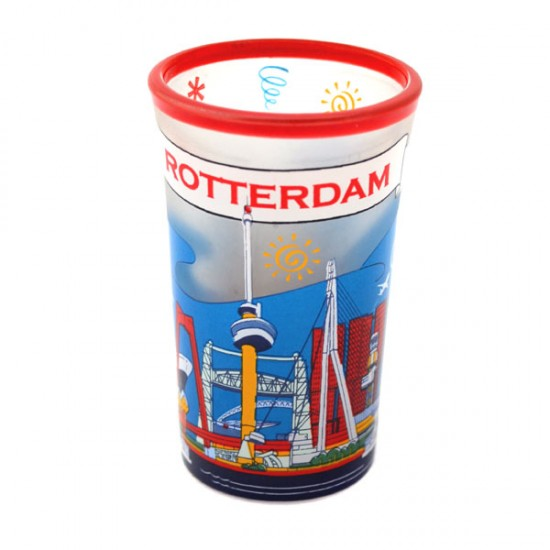 SHOT GLASS ROTTERDAM SKYLINE COLOR