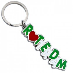 KEYCHAIN LETTERS ROTTRDAM RED HEART