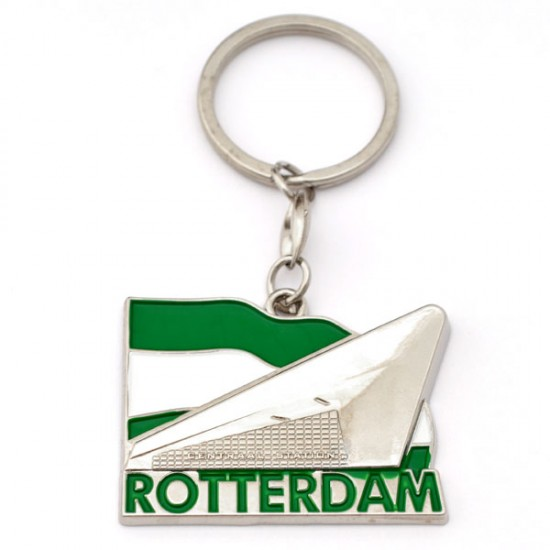 KEYCHAIN ROTTERDAM CENTRAL STATION FLAG
