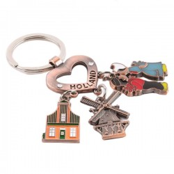 KEYCHAIN CHARMS HEART HOLLAND COPPER