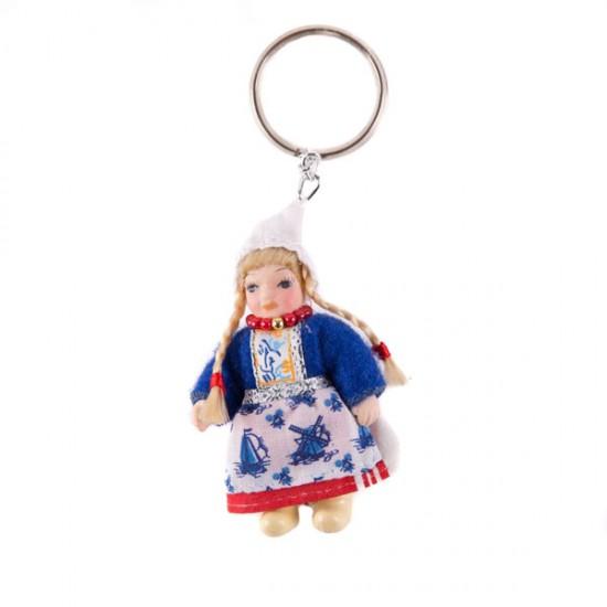 Schlüsselanhänger porzellanpuppe holland tracht
