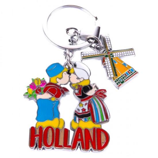 SCHLUSSELHANGER KISSING COUPLE MÜHLE HOLLAND CHROME