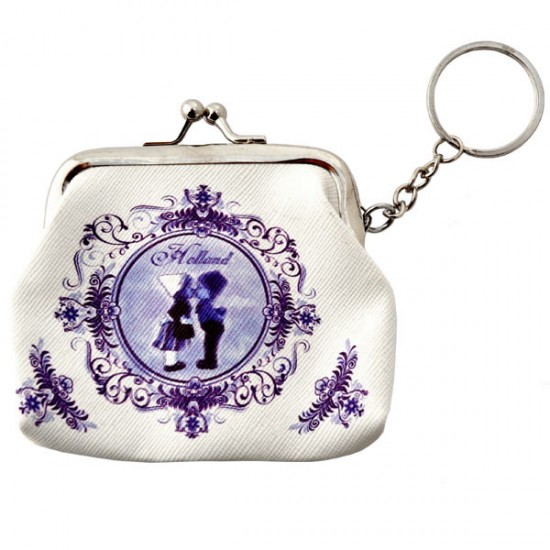 KEYCHAIN COIN PURSE KISSING COUPLE DELFT