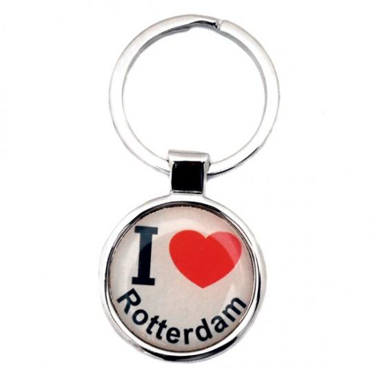 KEYCHAIN LOVE ROTTERDAM ROUND EPOXY
