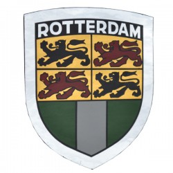 STICKER SHIELD ROTTERDAM FLAG