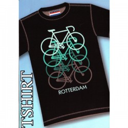T-SHRT ROTTERDAM RETRO BICYCLES BLACK GREEN
