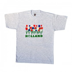 T-SHIRT GRAY REGULAR HOLLAND TULPIPS