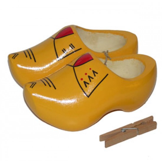 Holland farmers clogs yellow red 13 - 16.5 cm