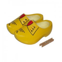 DUTCH FARMERS CLOGS YELLOW RED 17 - 20,5 CM