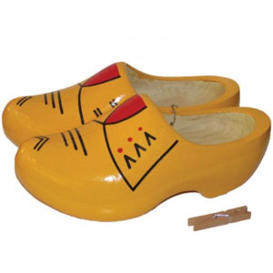 Bauern holzschuhe gelb rot 27 - 30.5 cm