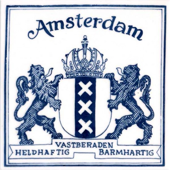 Delfts blauw tegel amsterdam logo vierkant