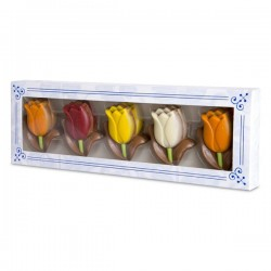 CHOCOLATE TULIPS DELFT BLUE WINDOW BOX