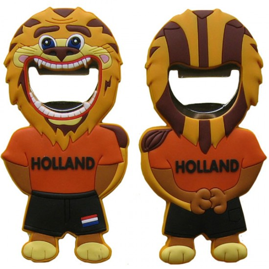 BOTTLE OPENER WORLD CUP LION ORANGE HOLLAND