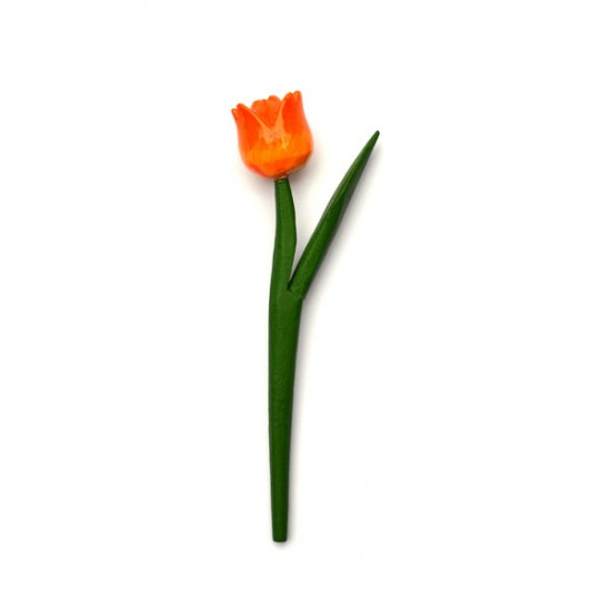 MINI WOODEN TULIP SHINY ORANGE 18 CM
