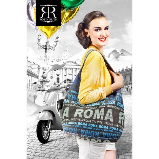 SHOULDER BAG JULIA FLOWERS ROTTERDAM BLACK ROBIN RUTH