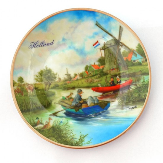 Wall plate van hunnik polder landscape color