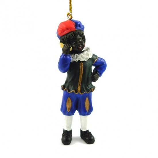 BLACK PETE with CELL PHONE POLYSTONE 9 CM