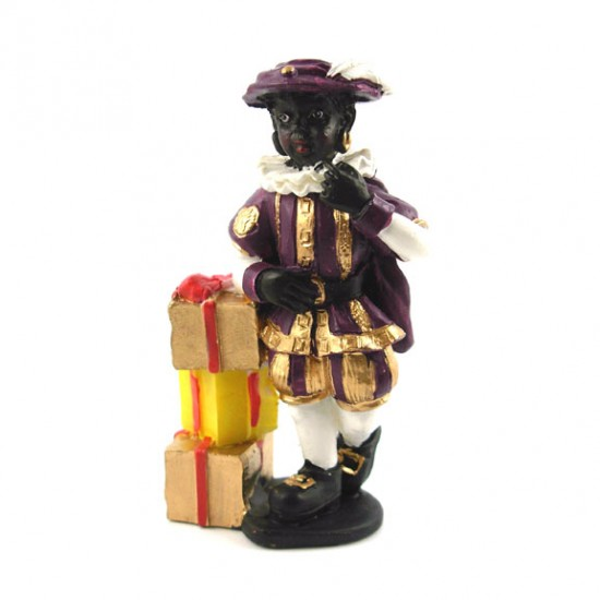 BLACK PETE with GIFT BOXES POLYSTONE 8 CM
