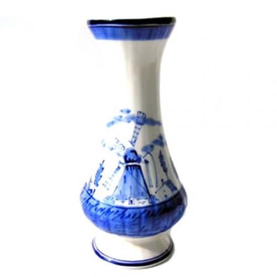 Carnation vase windmill delft blue 18 cm