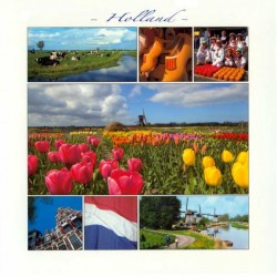 POSTCARD HOLLAND 15 x 15 CM - 2881