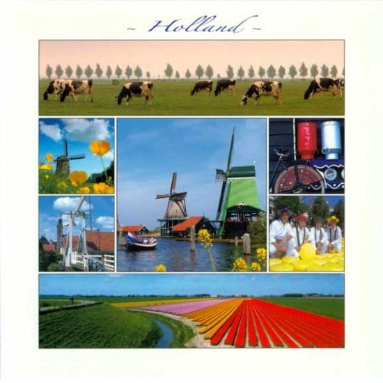 Postcard holland 15 x 15 cm - 2882