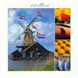 POSTCARD HOLLAND 15 x 15 CM - 2883