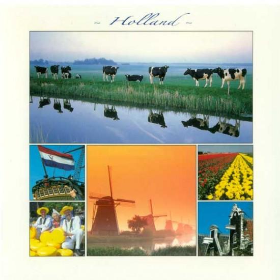 Postkarte holland 15 x 15 cm - 2886