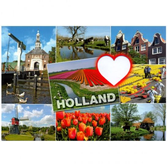 Postcard holland a6 cutout hart - st846