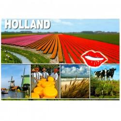 POSTCARD HOLLAND A6 CUTOUT LIPS- 25094