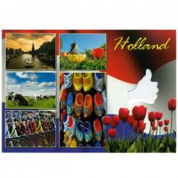 POSTCARD HOLLAND A6 CUTOUT THUMBS - 25374