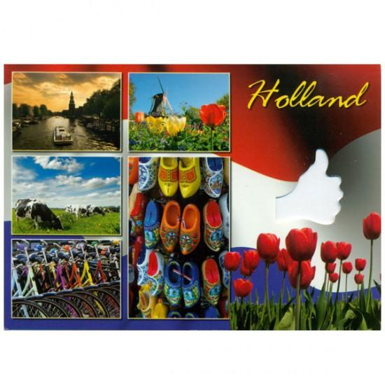 ANSICHTKAART HOLLAND A6 GESTANST THUMBS - 25374