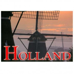 POSTCARD HOLLAND A6 WINDMILL DUSK - ST845