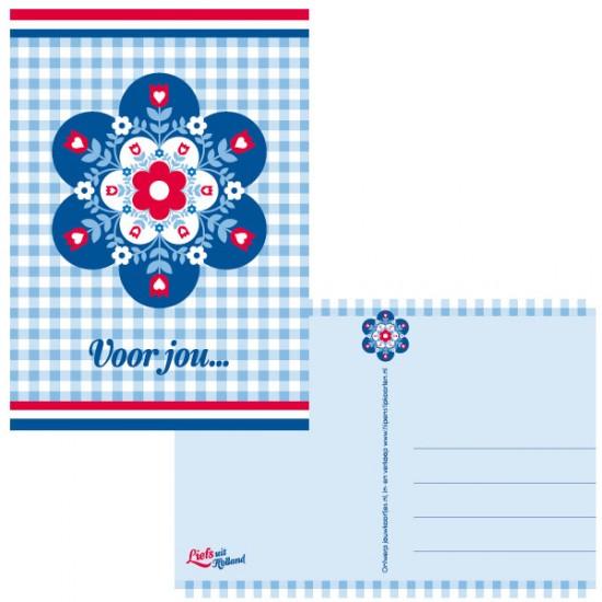 Postkarte holland blume voor jou
