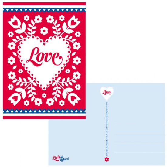 Postkarte holland love