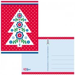 POSTCARD CHRISTMAS TREE HOLLAND