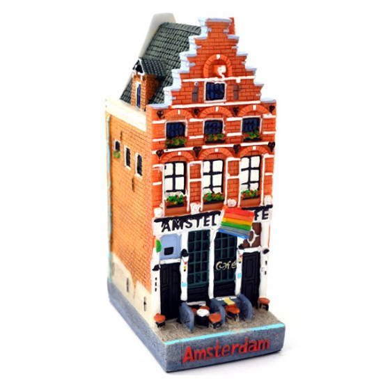 CANAL HOUSE AMSTERDAM CAFE AMSTEL BETWEEN HOUSE