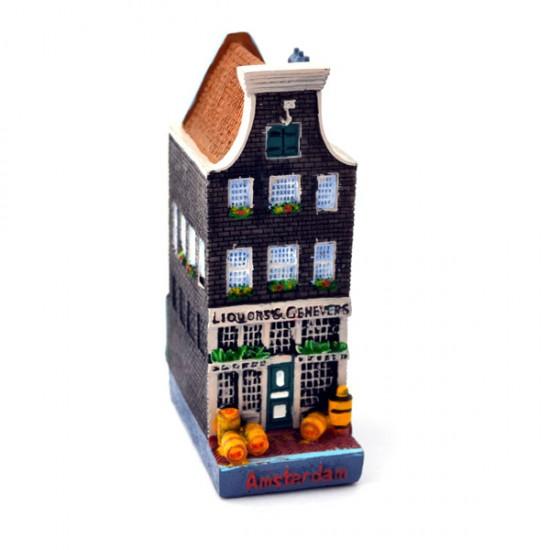 Canal house amsterdam liquor distillery between house