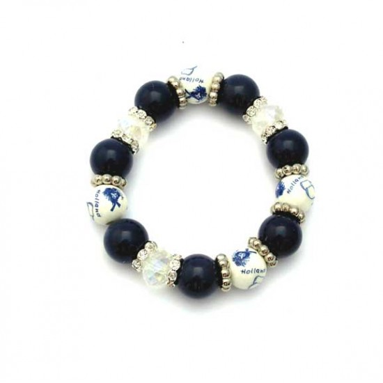 Armband blauwe kralen swarovski rondelles