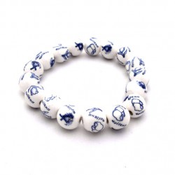 BRACELET DELFT BLUE BEADS