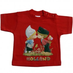 BABY / KIDS T-SHIRT HOLLAND KISSING COUPLE RED