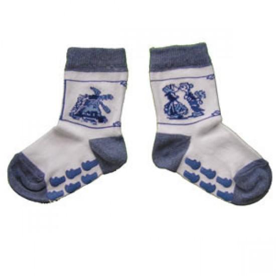 BABY SOCKS DELFT BLUE PRINT ANTI SLIP