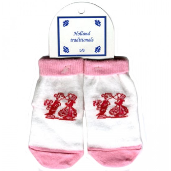BABY SOCKS KISSING COUPLE DELFT PINK