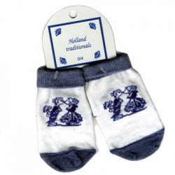 BABY SOCKS KISSING COUPLE DELFT BLUE