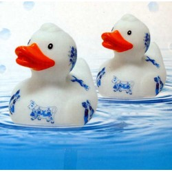 BATH DUCK DELFT BLUE